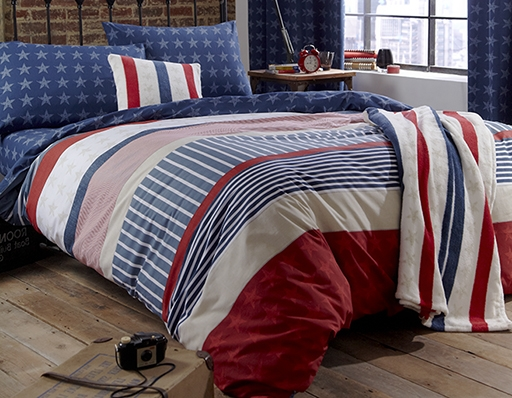 Vico Catherine Lansfield Kid s   Stars   Stripes Duvet Set